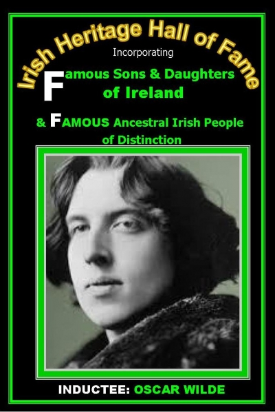 OSCAR WILDE (Dublin): Irish Heritage Hall of Fame Inductee
