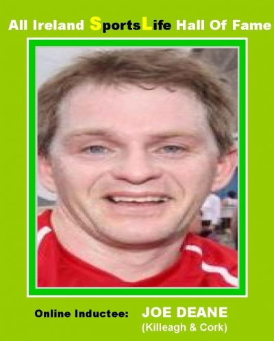 JOE DEANE (Cork):All Ireland SportsLife Hall Of Fame Inductee