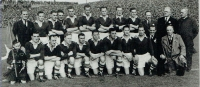1911 Cork 6-6 Antrim 1-2: 1945 Cork 2-5 Cavan 0-7. Cork endured a 34 wait from 1911 to 1945 to claim only their second All Ireland senior football title. The county again had to endure a further 28 years to claim their next title. The 1945 success became a very important football All Ireland title for Cork football fans