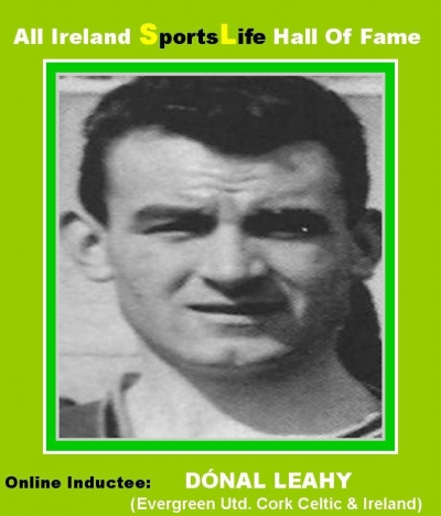 Dónal Leahy (Cork): All Ireland SportsLife Hall Of Fame Inductee [SOCCER AWARD]