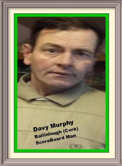 DAVY MURPHY (CORK): All Ireland SportsLife Hall Of Fame Inductee