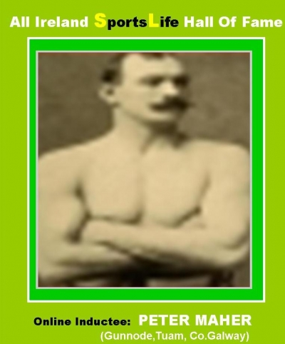 PETER MAHER (Galway):  All Ireland SportsLife Hall Of Fame Inductee [BOXING AWARD]